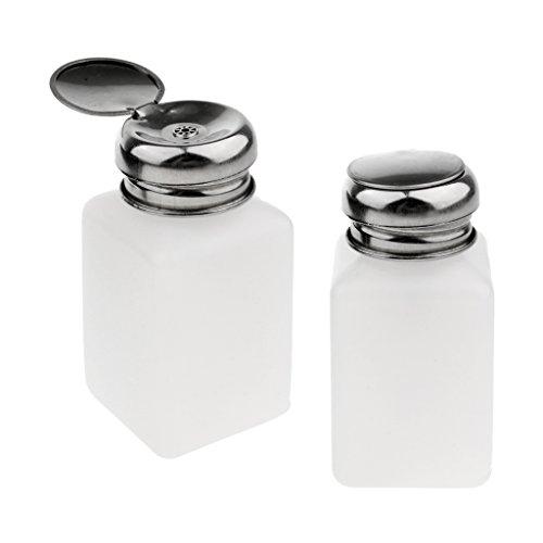 Sharplace 2 Pcs Flacon Pompe Distributeur Vide Bouteille Dissolvant - Blanc, 100/200/250ml – - blanc, 200ml