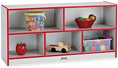 Rainbow Accents Low Single Mobile Storage Unit, Red