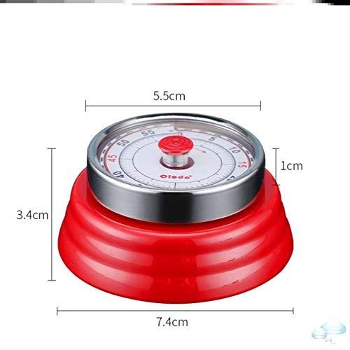 hlyhly Despertador Reloj Digital Reloj Despertador Digital de Aprendizaje, Temporizador de cocción pequeño, recordatorio de Cocina-Rojo mecánico-U10