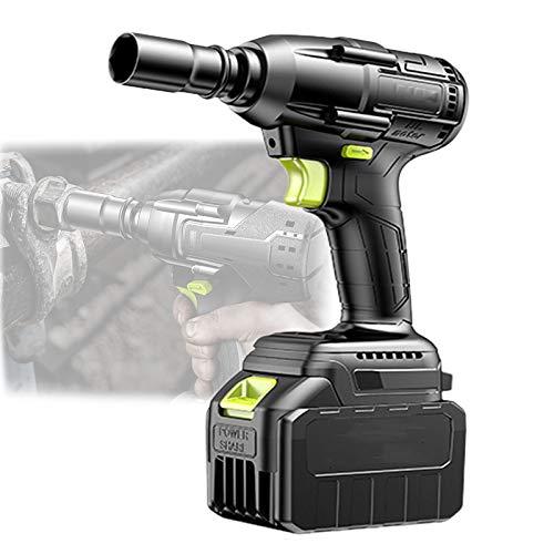 EnweMahi Multifunción Llave De Impacto A Bateria,Pistola De Impacto Eléctrico con Accesorios...