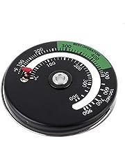 H HILABEE Magnetische Kachel Thermometer Log Houtbrander Brandende Thermometer Kachel Temperatuurmeter Kachel BBQ