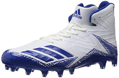 adidas Men's Freak X Carbon Mid Football Shoe, White Collegiate Royal, 13 Medium US