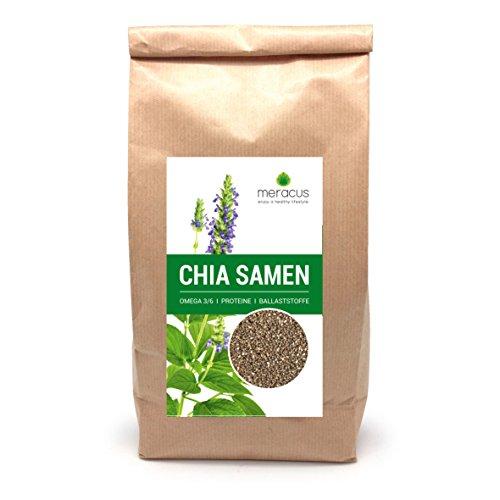 meracus Premium Chia Samen, 1er Pack (1 x 1 kg)