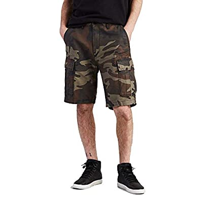 Levi's Men's Regular Carrier Cargo Short, Dark Camo - Back Satin, 34