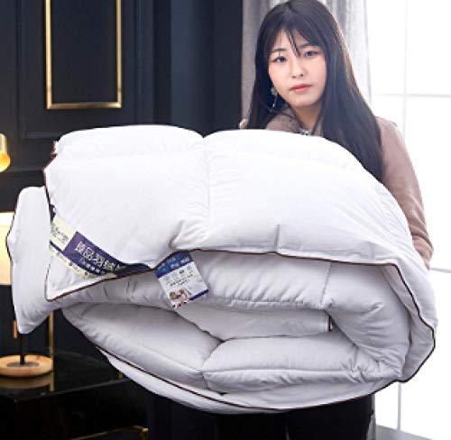 CHOU DAN waterproof duvet protector single,95 white goose down winter duvet thickened-150X200cm 3000g_white