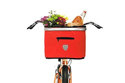 TOPMOVE® Lenkerkorbtasche Fahrradkorb Rot