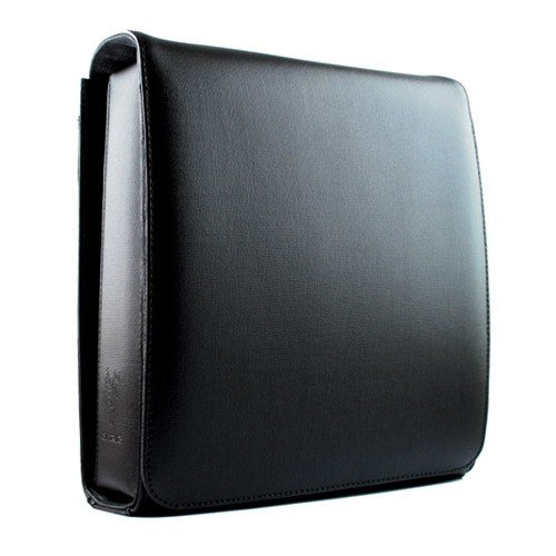 Exclusieve GARIZ Designer echt lederen schoudertas/schoudertas/camera-tas/fototas (BB-LCBBK) met Mini Tablet PC compartiment (bijv. iPad Mini, etc.) en vele functionele details (powered by SIOCORE)