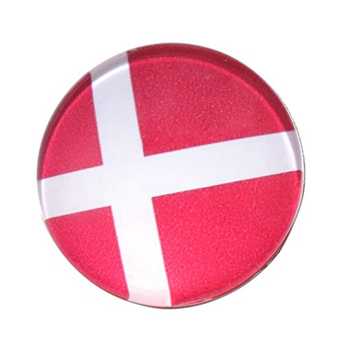 3cm/1.2 Diameter Pin Button Badges 32 Different Team Flag Brooch Beauty Girls Design Style Women Accesories Cute Beautiful Best Good | Item Color - Denmark