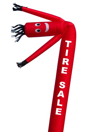 LookOurWay 'TIRE SALE' Air Dancers Inflatable Tube Man Attachment, 20-Feet (No Blower)