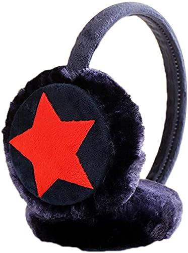 Calentadores Invierno Orejas Earmuffs Sofá Envoltura Cabeza (Color : Black, tamaño : One Size)