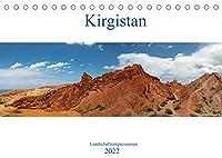 Kirgistan - Landschaftsimpressionen (Tischkalender 2022 DIN A5 quer): Bezaubernde Landschaften in der Naehe vom Issyk Kul See in Kirgistan. (Monatskalender, 14 Seiten )