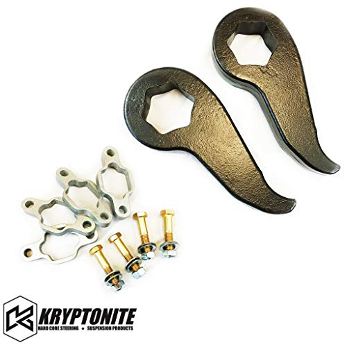 Kryptonite Stage 1 Leveling Kit w/Torsion Bar Keys & Shock Extenders Compatible with 2011-2019 Chevy/GMC 2500HD 3500HD KR11STAGE1