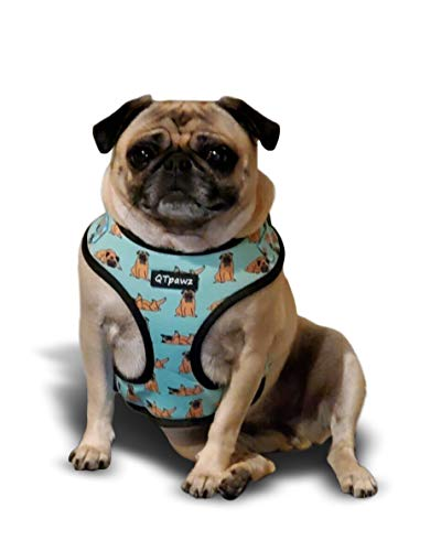 Pug Vest Harness with Matching Poop Bag Holder (Small)