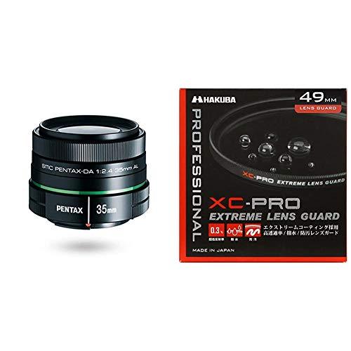 PENTAX 単焦点レンズ DA35mmF2.4AL Kマウント APS-Cサイズ 21987 ブラック+HAKUBA 49mm レンズフィルター XC-PRO 高透過率 撥水防汚 薄枠 日本製 レンズ保護用 CF-XCPRLG49