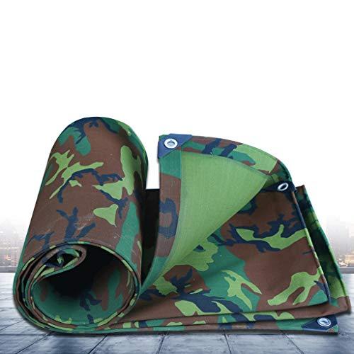JLZS-Tarpaulin Toile de Camouflage épais Tissu imperméable bâche imperméable bâche de Protection Solaire bâche bâche bâche (Couleur : Camouflage, Taille : 3 * 6)