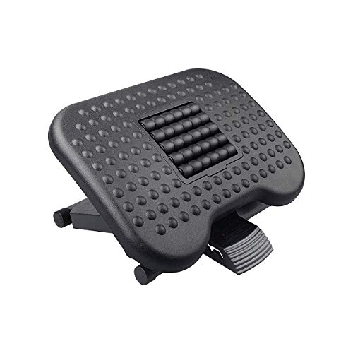 Halter Ergonomic Footrest, 3 Adjustable Height Positions Under Desk Footrest, Black