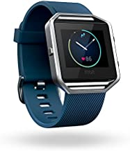 Fitbit Blaze Smart Fitness Watch, Blue, Silver, Large (6.7 - 8.1 inch) (US Version)