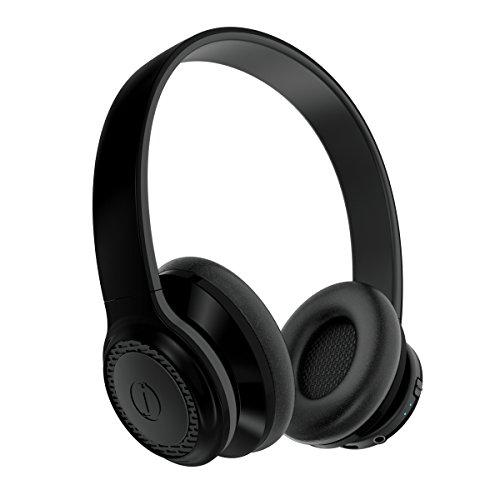 Jam Audio Transit 2.0, bluetooth hoofdtelefoon met actieve ruisonderdrukking + draadloze on-ear control, microfoon, zweetbestendige hoofdtelefoon, batterij van 15 uur, diepbass, heldere hoge tonen