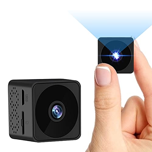 Mini Spy Camera,Hidden Camera with Motion Detection IR Night Vision, Full HD Mini Camera with 6 Hours Battery Life,Indoor Outdoor Covert Security Camera with Loop Recording for Home and Office