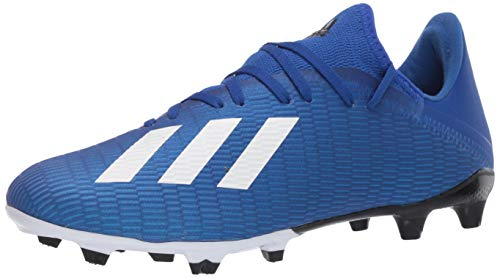 adidas Men's X 19.3 Firm Ground Boots Soccer Shoe, Team Royal Blue/FTWR White/core Black, 12 M US