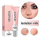 Base de imprimación para maquillaje facial con imprimación de poros, crema de aislamiento rosada poro invisible, marcas de acné de cubierta, control de aceite, base de corrector de esencia