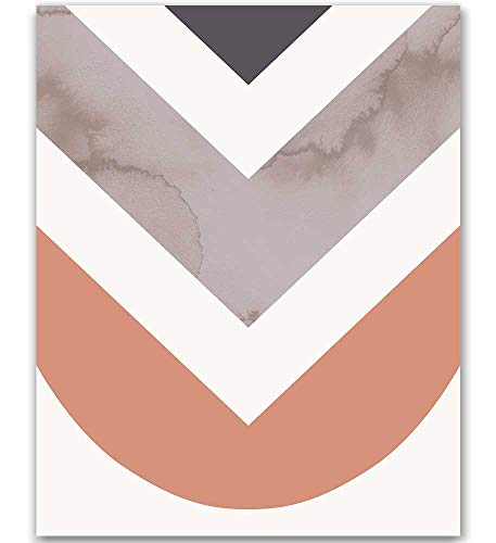 Arrow Art Print Midcentury Modern Poster Abstract Watercolor Art Print Pink and Gray Wall Art Pink and Navy Geometric Print Pastel Artwork Abstract Shapes Art Triangles Print 8x10 Unframed Art Print