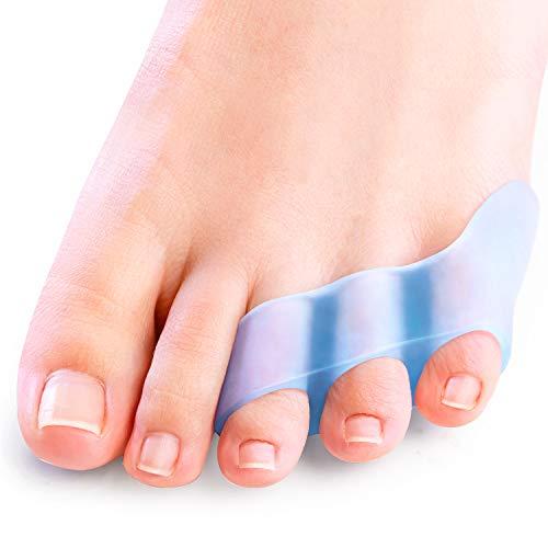 Sumifun Separador de dedos pequeños, gelatinoso, protector de dedos superpuestos, enrollado, separador de dedos pequeños, alivio de fricción, ampolla, 5 pares