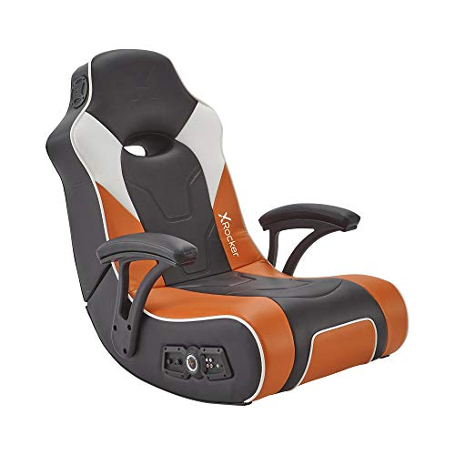 X Rocker G-Force Sport 2.1 Stereo Audio Gaming Chair with Subwoofer Orange / Black