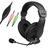 Wired Gaming Headset Stereo Earphone Headphone w/Mic for Tablet Laptop Notebook Gaming Headsets My #GMR01