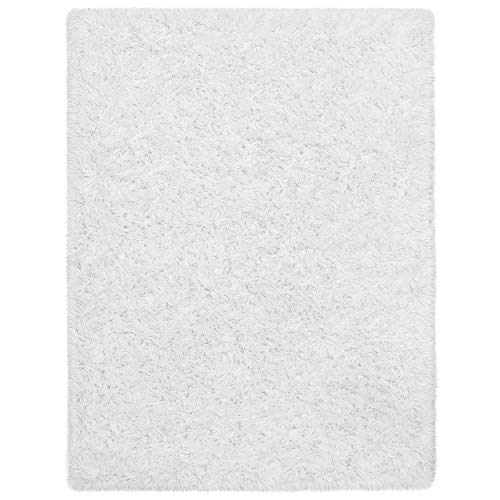 Ophanie Ultra Soft Fluffy Area Rugs for Living Room, Luxury Shag Rug Faux Fur Non-Slip Floor Carpet for Bedroom, Kids Room, Baby Room, Girls Room, and Nursery - Modern Home Decor, 4x5.3 Feet White