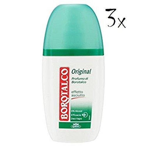 3x Roberts Borotalco Deo deodorant Vapo Vapor Spray Original Fresh 75ml