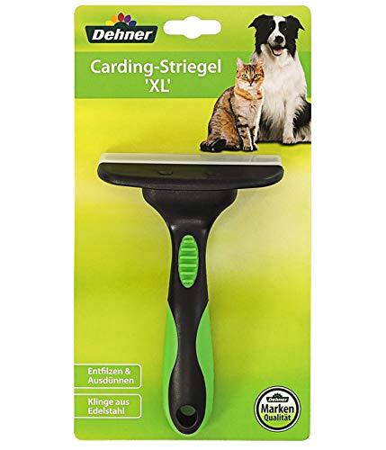 Dehner 4035267de Perros y Gatos Piel Cuidado, CARDING Almohaza de XL, para desenredar y Entresacar, plástico y Acero Inoxidable, XL