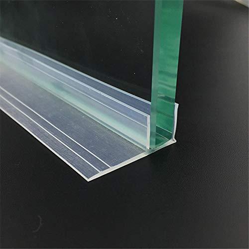 6 8 10 12 Mm Glasdichtungen Rahmenlose Duschtür Fenster Balkon Bildschirm Dichtungsstreifen Dichtungsstreifen Zugluftstopper 5 M Groß F-Transparent_8Mm