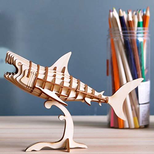 3D Puzzle - Dinosaurier Holz Spielzeug - Gehender roboterartiger T-Rex - Modellbau Steckpuzzle Dino Holzbausatz - Holzpuzzle Basteln - Geschenk für Geburtstag Weihnachten für Jungen und Mädchen 6, 7, 8 Jahre und Älter