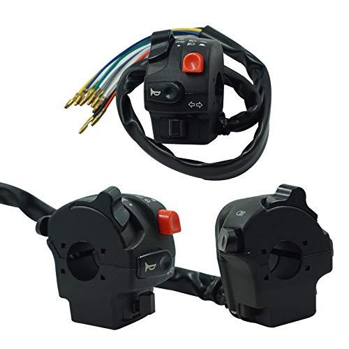 U/D 7/8' 22mm Interruptor Manillar de la Motocicleta Conjunto del Motor de Arranque eléctrico de muertes del Cuerno luz del Faro Push Button CGFEUR