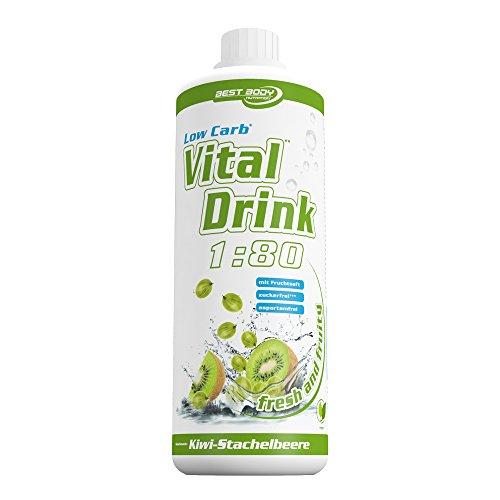 Best Body Nutrition Vital Drink Kiwi-Stachelbeere, Getränkekonzentrat, 1000 ml Flasche