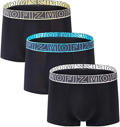 JINSHI Herren Boxershorts Bambusfaser Trunks Strectch Unterhose Unterwäsche, 3pack-mf104, XL