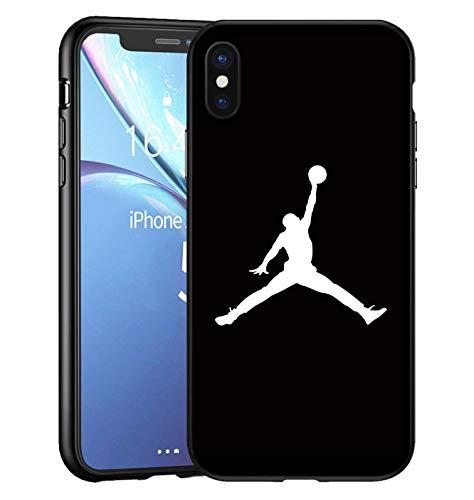 Toxdi Air Man Logo iPhone XS MAX Funda, Carcasa Silicona Protector Anti-Choque Ultra-Delgado Anti-arañazos Case Caso para Teléfono iPhone XS MAX (Negro)