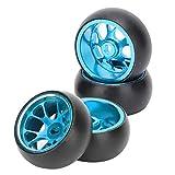 HAOX Neumáticos RC Drift, fáciles de Instalar y Quitar Neumáticos RC de Alta Resistencia a la compresión Reemplazo de Alta Resistencia al Desgaste para Coches RC(Blue)