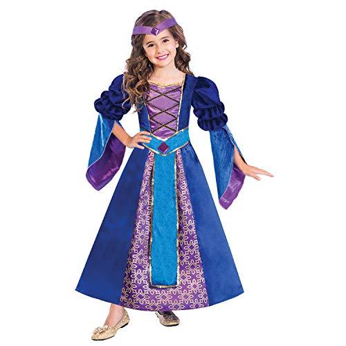 amscan 9904476 Juego de disfraz de princesa medieval para nios, 6-8 aos-2 piezas, nios y nias