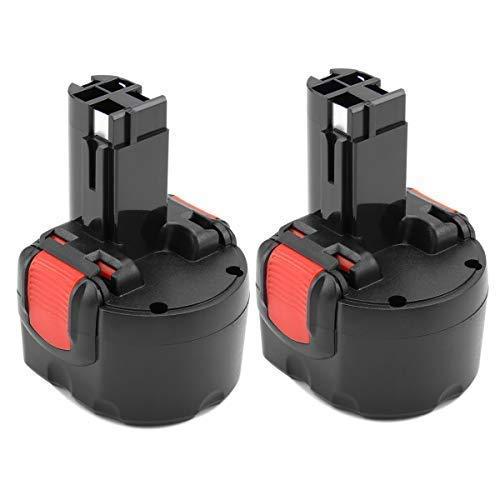2PCS Exmate 9.6V 3.5Ah Batteria per Bosch BAT048 BAT100 BAT119 BH984 BPT1041 2607335260 2607335272 2607335373 2607335453 PSR960 GSR 9.6VE-2 GSR 9.6-2, Batteria di ricambio Ni-MH