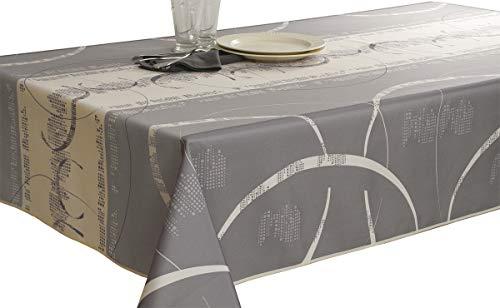 Le linge de Jules Nappe Anti-Taches Astrid Ecru - Taille : Rectangle 150x240 cm