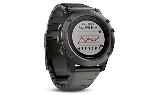 Garmin Fenix 5X Sapphire - Slate Gray with Metal Band