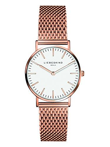 Liebeskind Berlin Damen Analog Quarz Armbanduhr mit Edelstahlarmband LT-0081-MQ