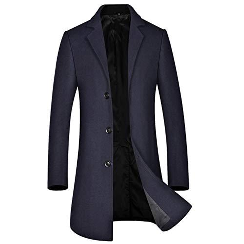 Elecenty Gabardina para Hombre Business Cárdigans De Lana Sweatshirt Slim Fit Abrigo de Invierno Chaqueta Sudaderas Outwear Tops