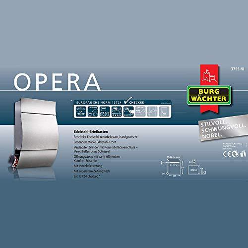 BURG WÄCHTER Opera 3755 Ni Edelstahlbriefkasten - 5