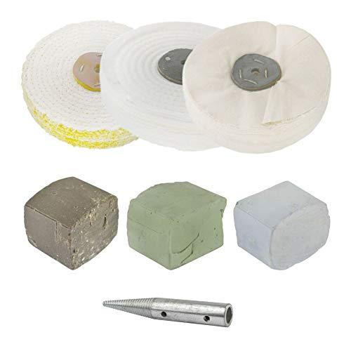 Poliermop für 1/2 HP Mops, 3 Mops, 15 x 2,5 cm