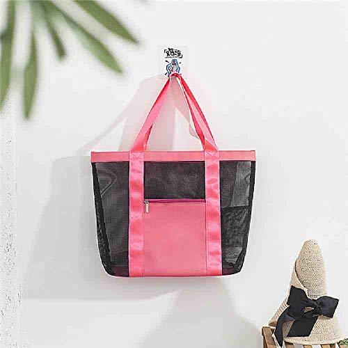 OYHBGK 1 PC Grande Capacité Cosmétique Sac Femmes Voyage Maquillage Sac Portable Mesh Trousse De Toilette Hommes Beach Wash Organizer Pouch