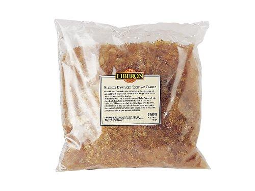 Liberon LIBBDS250G - Goma laca rubia en escamas, 250 g