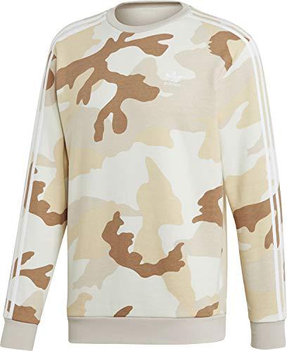 adidas Herren CAMO Crewneck Sweatshirt, Multicolor/Clear Brown, M